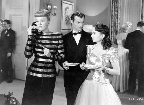 Eve Arden, Zachary Scott, and Ann Blyth in Mildred Pierce (1945)