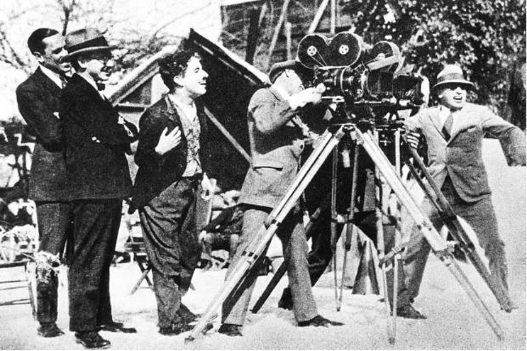 Charlie Chaplin on set The Gold Rush (1925)