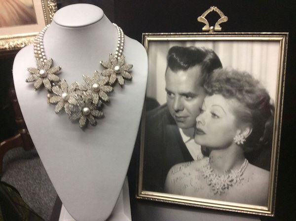 A personal necklace of Lucille Ball