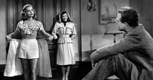 Lizabeth Scott, Barbara Stanwyck and Van Helfin in The Strange Love of Martha Ivers (1946)