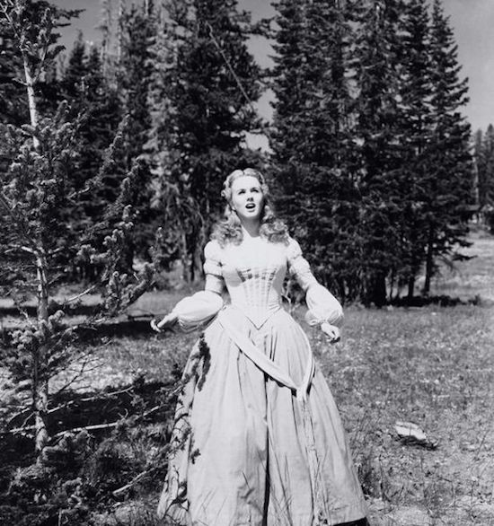 Cant Help Singing Deanna Durbin gown in forest 6