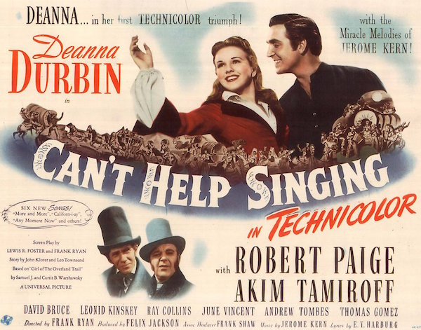 Cant Help Singing Lobby Card 1