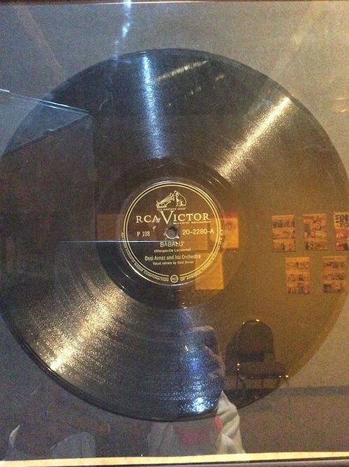 Desi's Babalou record at Lucy-Desi Museum