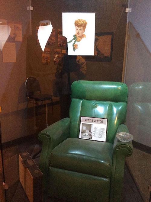 Desi's office chair & smoking jacket at Desilu Studios.