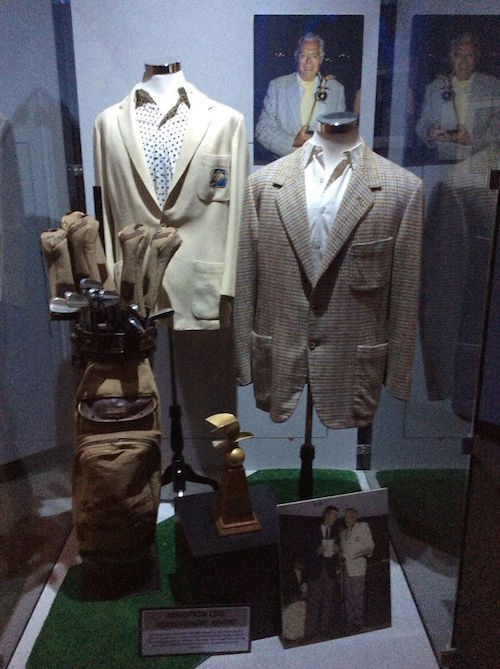 Desi's personal suits & golf clubs