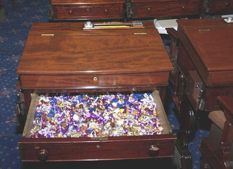 "Murphy's ""Candy Desk"" tradition"