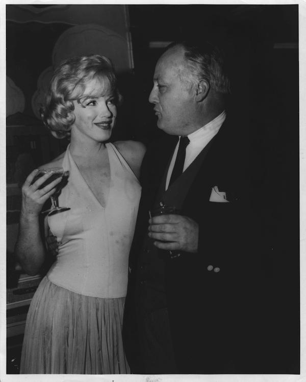 James Bacon and Marilyn Monroe