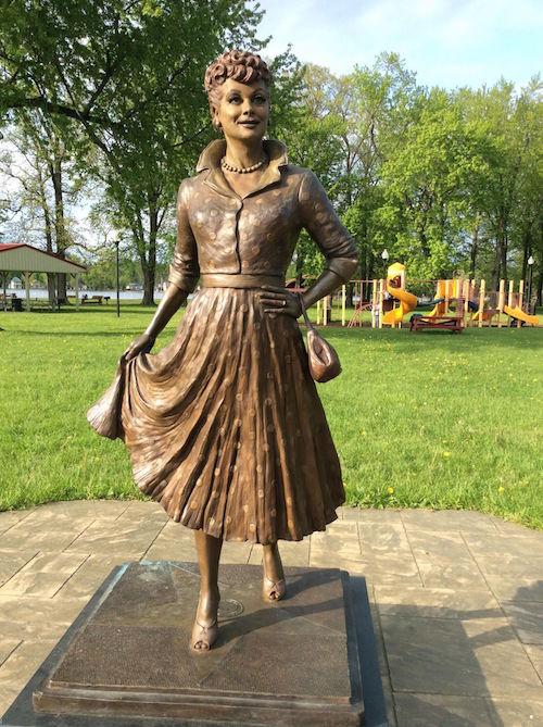 Lucille Ball Memorial Park bronze statue of Lucy