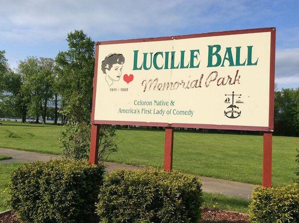 Lucille Ball Memorial Park sign Jamestown NY
