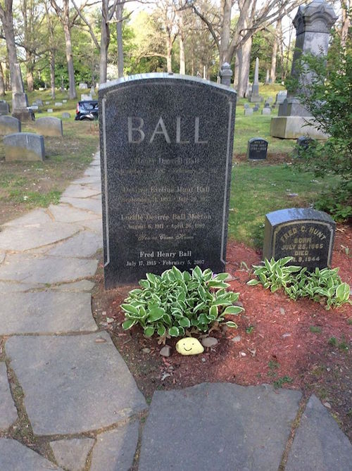 Lucille Ball grave - underneath her name it says You've come home.