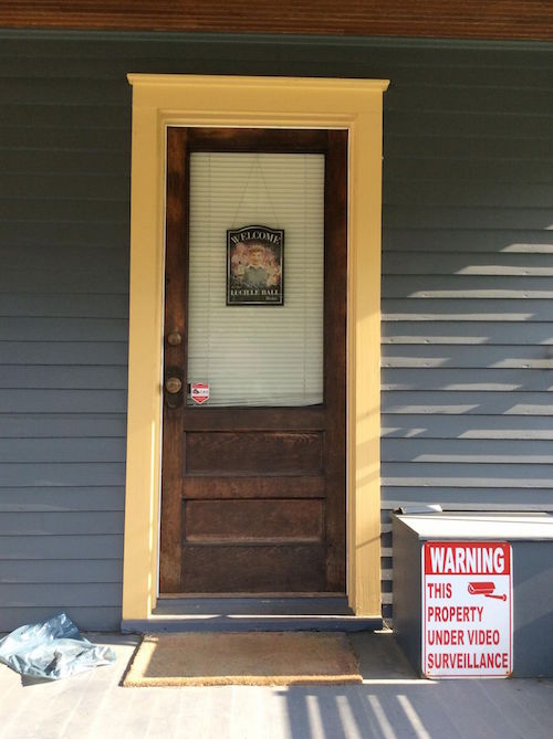 Lucille Ball home Jamestown NY doorway
