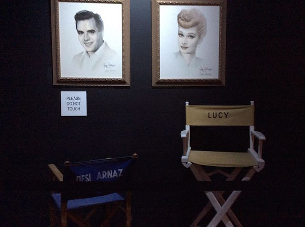 Lucy & Desi's chairs on the set