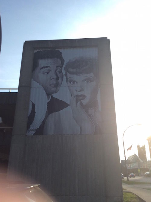 Lucy and Desi mural Jamestown