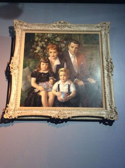Painted portrait of the family Lucy-Desi Museum