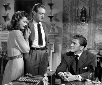 Barbara Stanwyck, Van Helfin and Kirk Douglas in The Strange Love of Martha Ivers (1946)