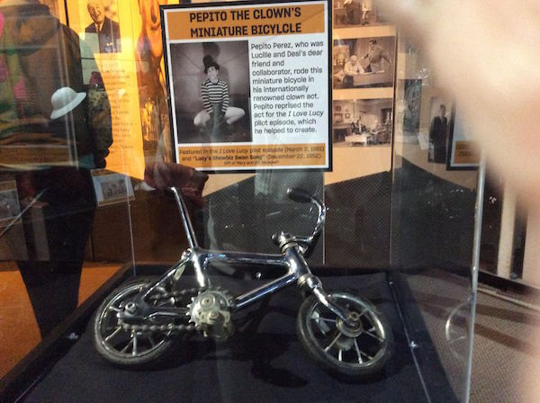This tiny bicycle was used by Pepito the Clown n the pilot episode of the series