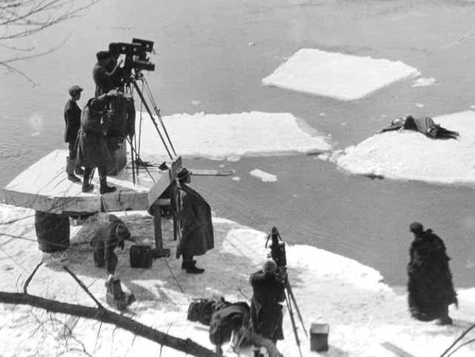 Way Down East (1920) Ice Lake Scene Filming