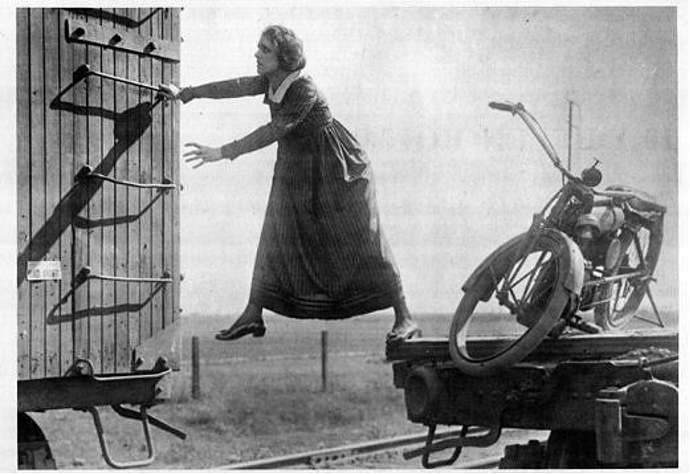 The first professional stuntwoman, Helen Gibson Movies