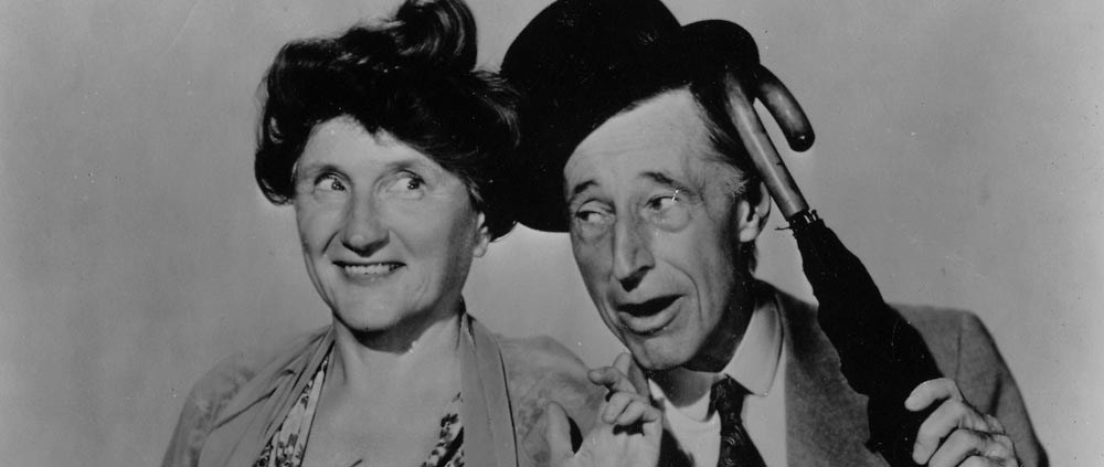 Majorie Main and Percy Kilbride as Ma and Pa Kettle