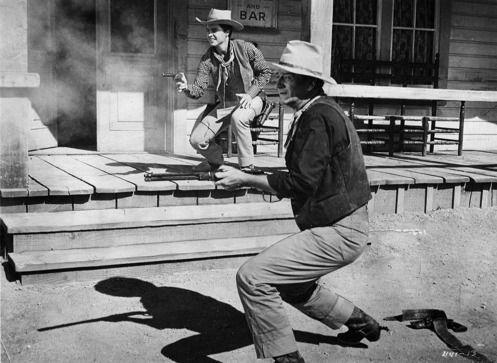 Ricky Nelson & John Wayne in a shootout Rio Bravo (1959)
