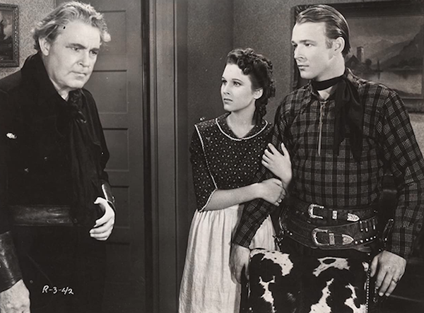 William Farnum, Lynne Roberts and Roy Rogers in Shine on Harvest Moon (1938)