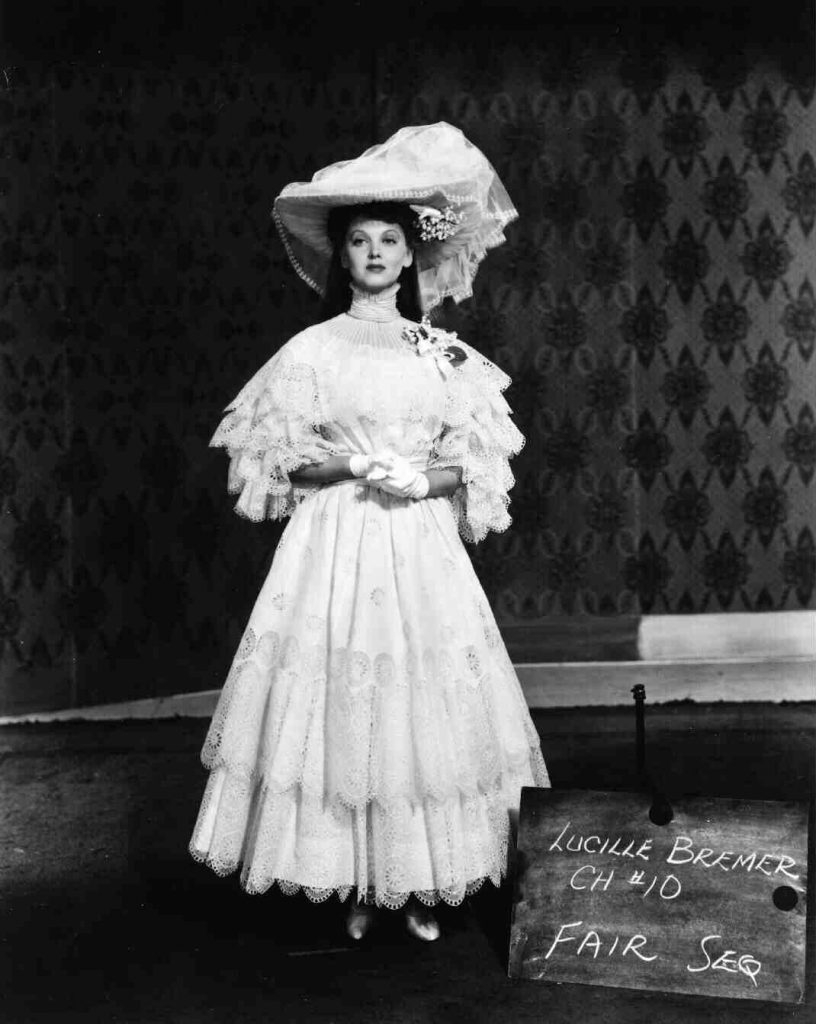 Lucille in a wardrobe test for Meet Me in St.Louis (1944)