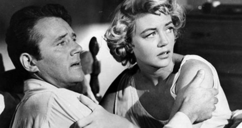 Howard Duff & Dorothy Malone in Private Hell 36 (1954)