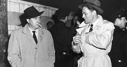Edmond O'Brien & John Agar in Sheild for Murder (1954)