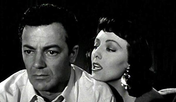 Cornel Wilde & Helene Stanton in The Big Combo (1955)