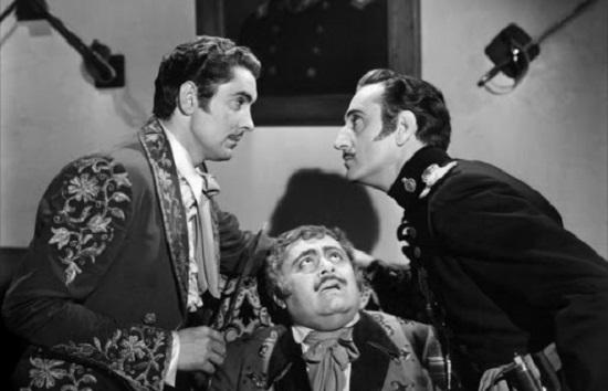 The Mark of Zorro (1940) Tyrone Power, J. Edward Bromberg and Basil Rathbone