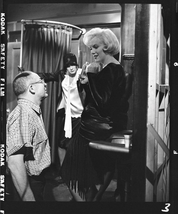 Billy Wilder and Marilyn Monroe on the set of Some Like It Hot