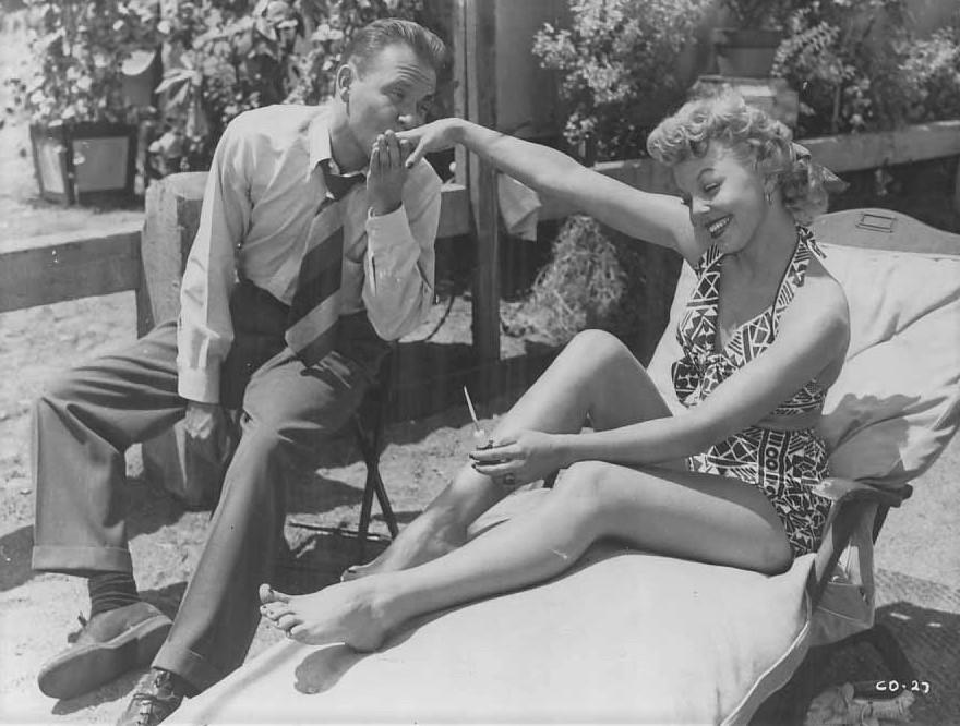 Richard Erdman and Jean Porter in Cry Danger (1951)