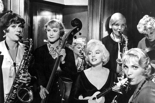 Some Like It Hot band featureing Tony Curtis Jack Lemmon Marilyn Monroe