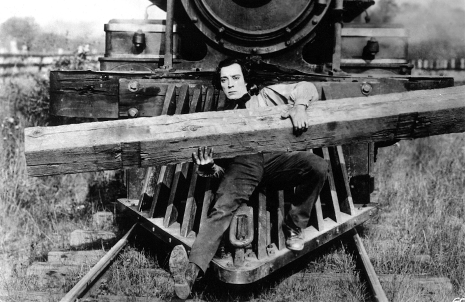 The General (1926) Buster Keaton Rail Post