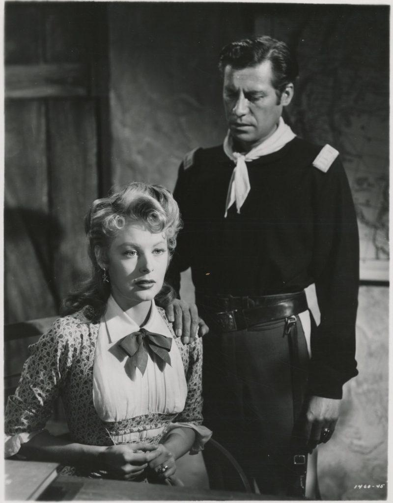 Arlene Dahl and John Hodiak in Ambush (1949)
