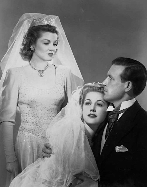 Claire Trevor, Audrey Long and Lawrence Tierney in Born to Kill (1947)