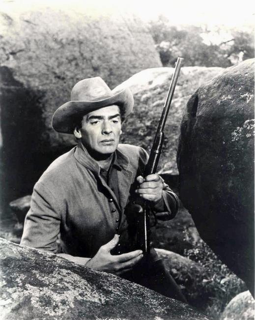 Victor Mature in Escort West (1958)