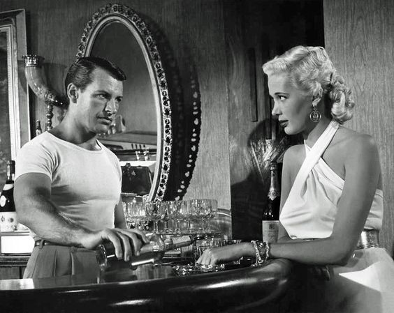 Richard Egan and Beverly Michaels in Bad Woman (1953)