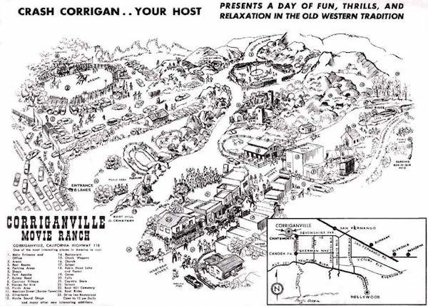 Corriganville Movie Ranch Attraction Map