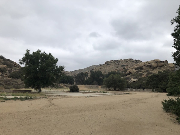 Corriganville Ranch location where buildings and stables once stood before a fire in the '70s