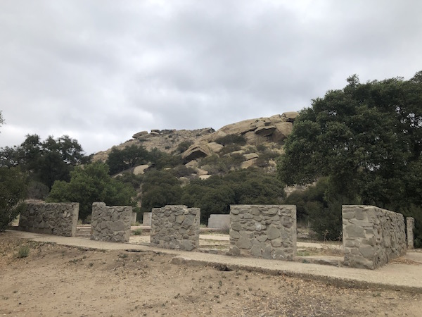 Corriganville Ranch stables used in films like Snowfire (1958)