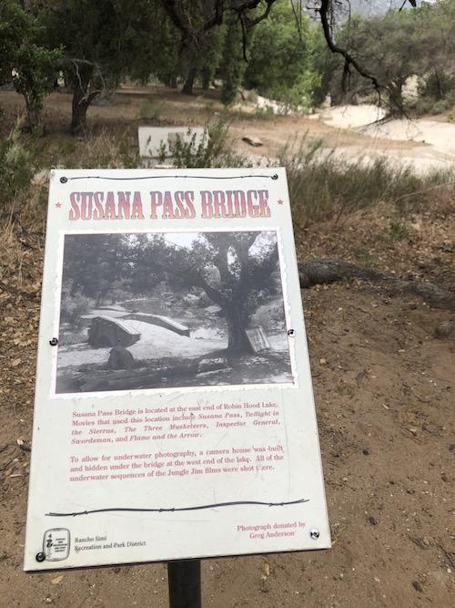 "Corriganville Ranch ""Susanna Pass Bridge"" sign"