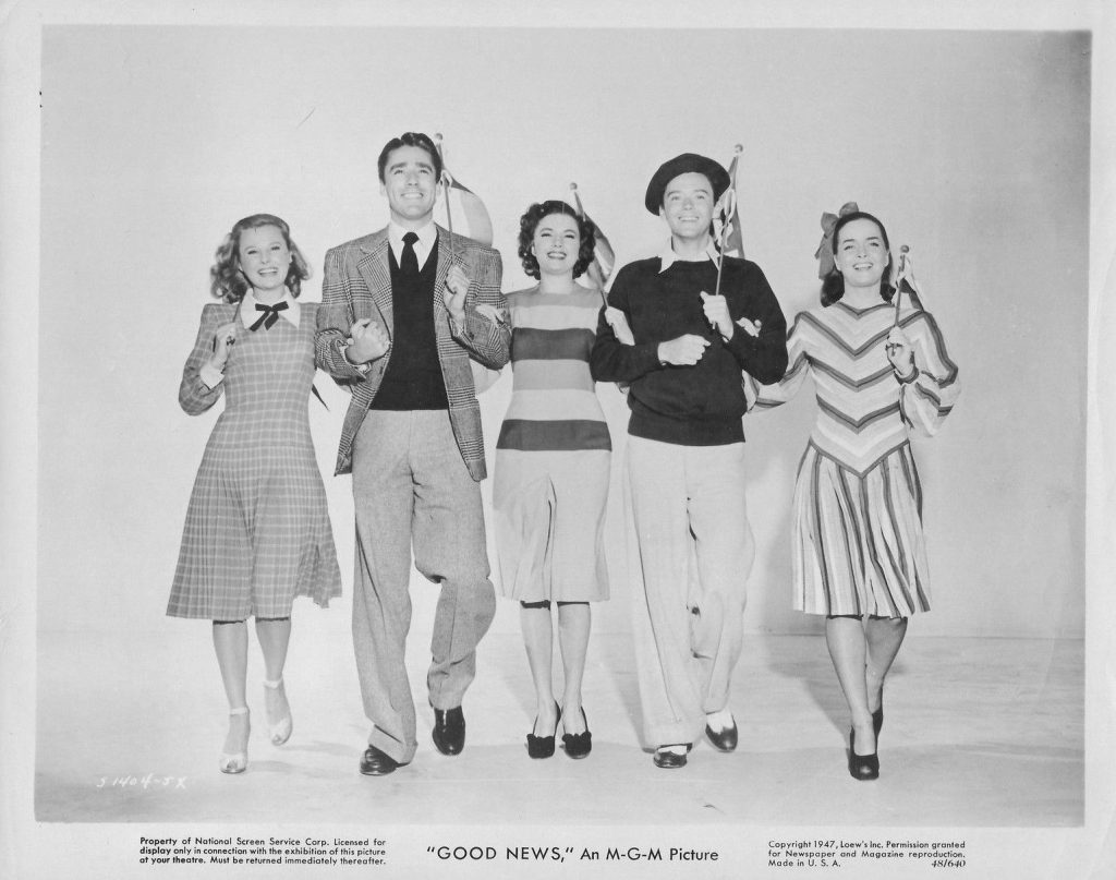 June Allyson, Peter Lawford, Patricia Marshall, Ray Mcdonald and Joan McCracken in Good News (1947)