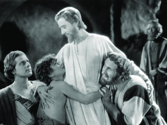Joseph Striker, Micky Moore, H.B. Warner, and Ernest Torrence in The King of Kings (1927)
