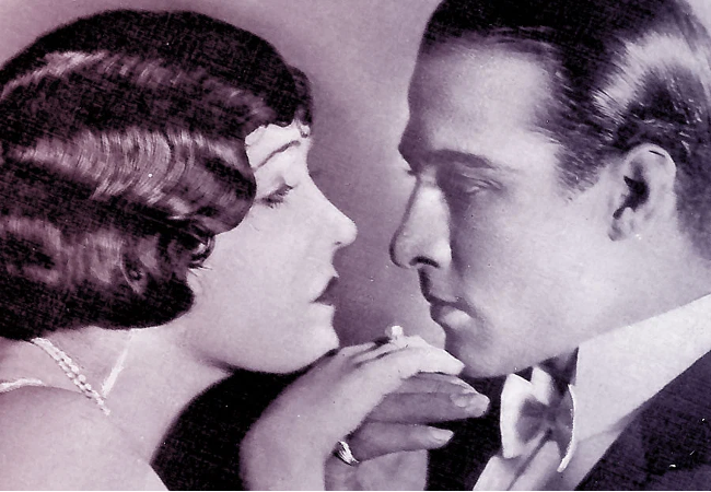 Gloria Swanson with Rudolph Valentino in Beyond the Rocks (1922)