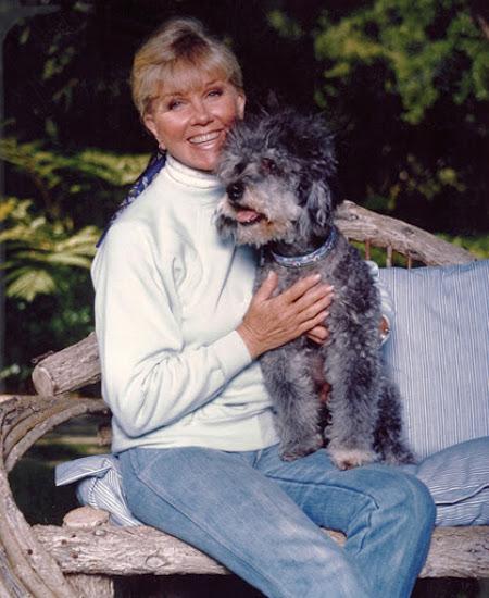Doris Day and dog