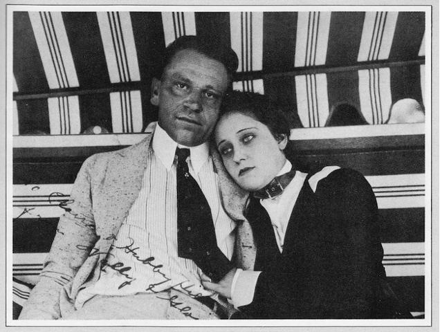 Gloria Swanson and Wallace Beery at Essanay Studio