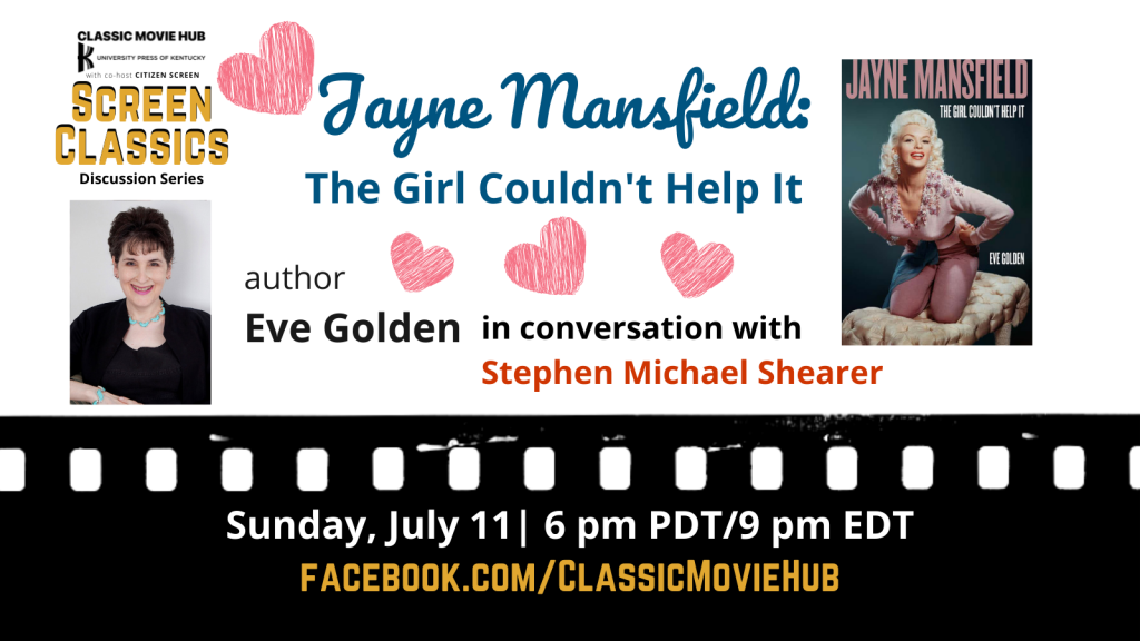 Classic Movie Hub chat with author Eve Golden