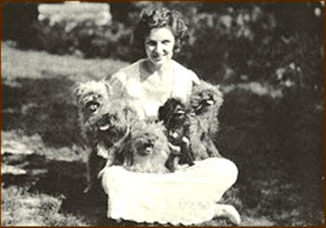 Irene Castle and some of her many rescued pets
