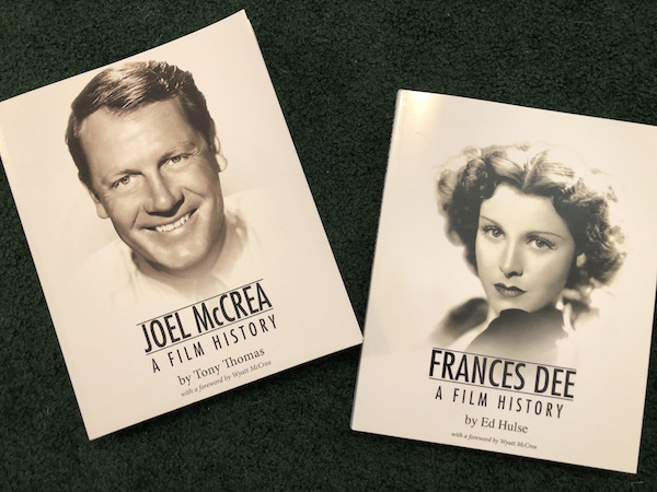 Joel McCrea, A Film History by Tony Thomas and Frances Dee, A Film History by Ed Hulse books